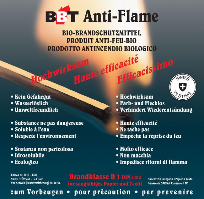 Brandschutzmittel BBT Für Textilien